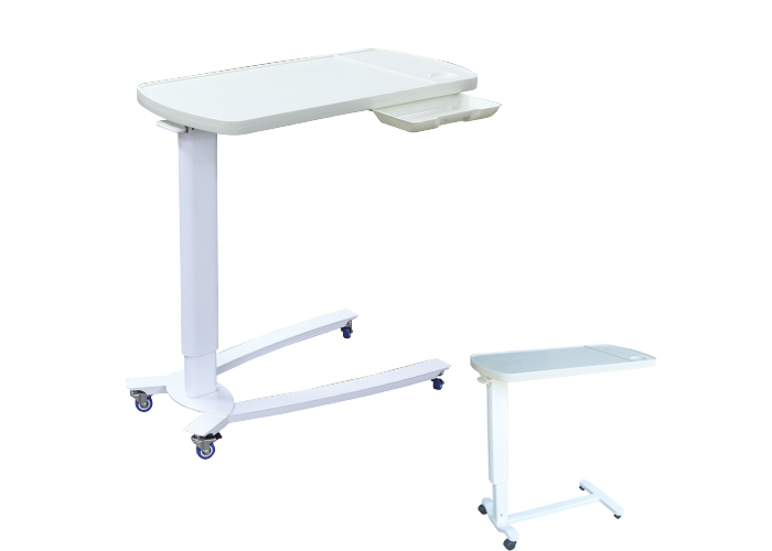 Luxurious Over Bed Table With Drawerhostpital Medical Trolley Mattress Chair Common Bedside